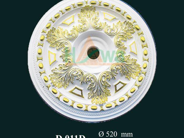 hoa đèn thạch cao dát vàng