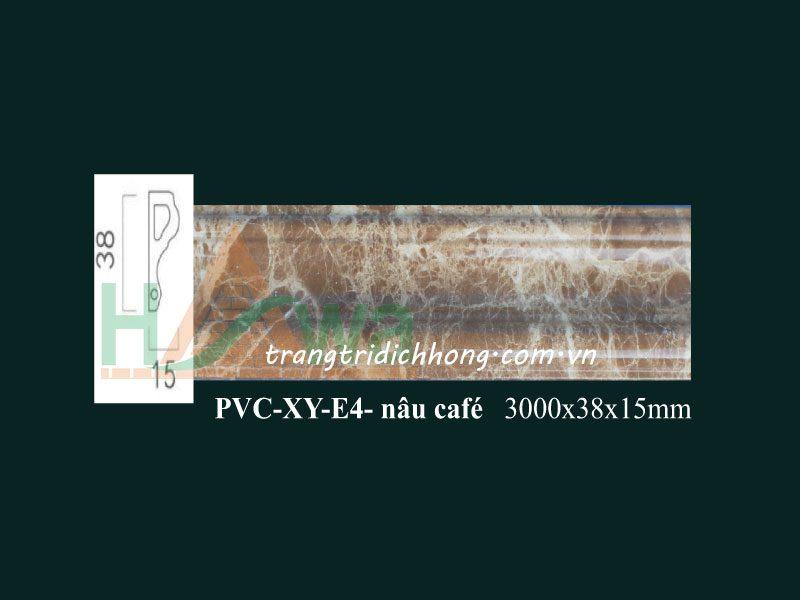 phào-chỉ-nhựa-pvc-xy-e4-nâu-cafe