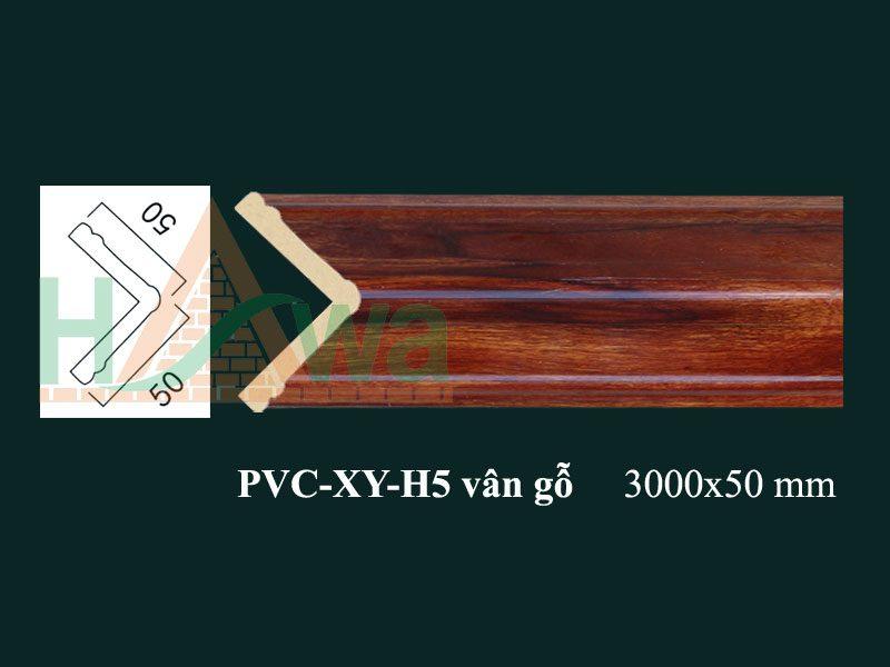 phào-chỉ-nhựa-pvcxy-h5-vân-gỗ