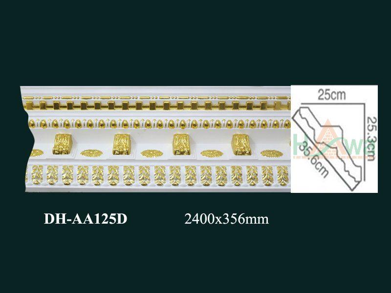 phào nhựa pu dát vàng dh-aa125d
