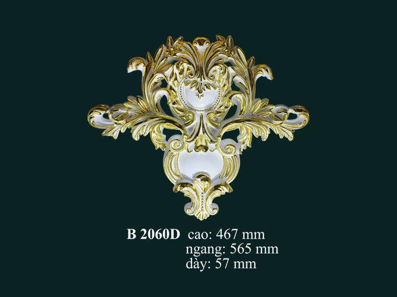 phù điêu thạch cao dát vàng b2060d