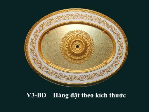 tấm trần nghệ thuật dát vàng