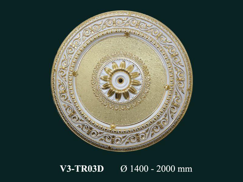 tấm trần nghệ thuật dát vàng v3-tr03d