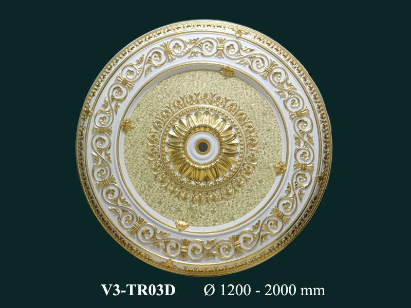 tấm trần nghệ thuật dát vàng v3tr03d