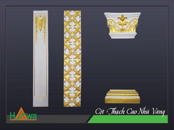 Cột thạch cao nhũ vàng