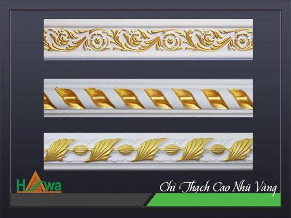 Các mẫu chỉ thạch cao dát vàng đẹp thương hiệu Dịch Hồng Hawa