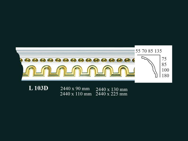 phào thạch cao dát vàng X013N