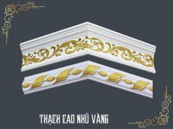 Phào Chỉ Thạch Cao Nhũ Vàng